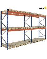 Pallereol 2 fag. H3000 mm L5660 mm - 1000 kg per palle